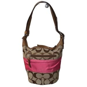 COACH SIGNATURE RUGBY DUFFLE BAG #13362